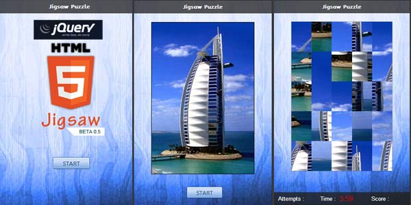 Jigsaw Puzzle HTML 5 Canvas - click for preview