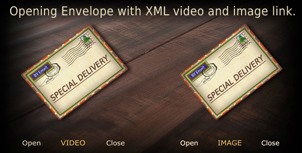 Opening Envelope with XML Video and Image link - click for preview