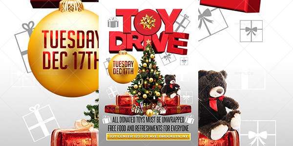 toy drive flyer template buy and download