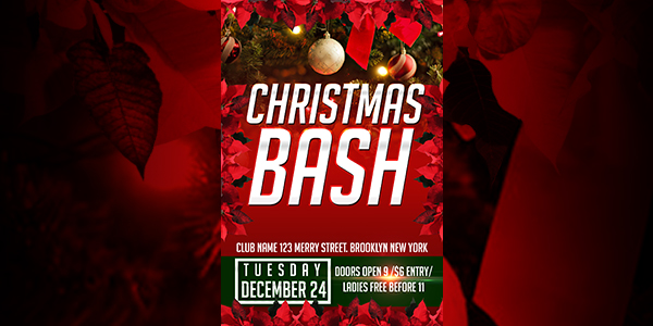 Chistmas Bash Flyer Template - click for preview