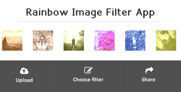Rainbow - Image Filter Web Application - click for preview