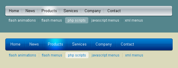 JavaScript Micro Menu - click for preview